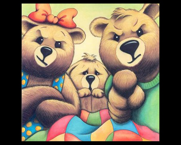THREE BEARS - framed for Susanna's contest copy