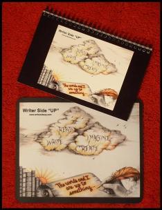 WriterSideUp-Notebook&Mousepad