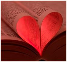 BookGiving - heart in pages-pink