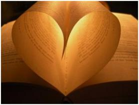 BookGiving - heart in pages