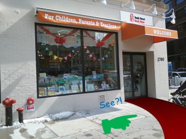 Bank Street Storefront with red carpet copy