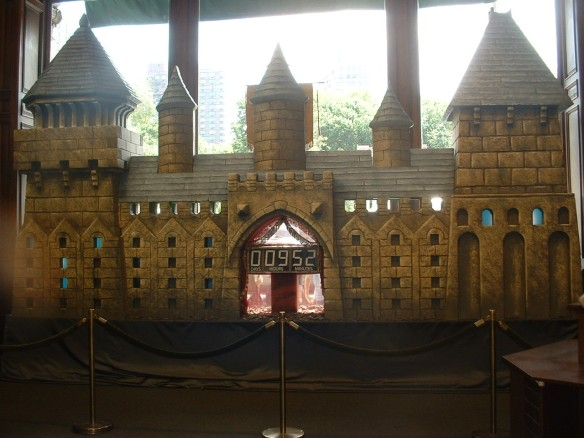B&N Union Sq castle with countdown