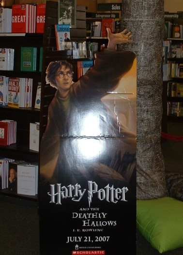 Deathly Hallows display